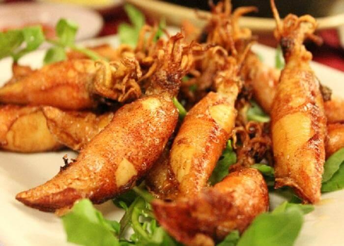 Các món ăn ngon làm từ mực trứng