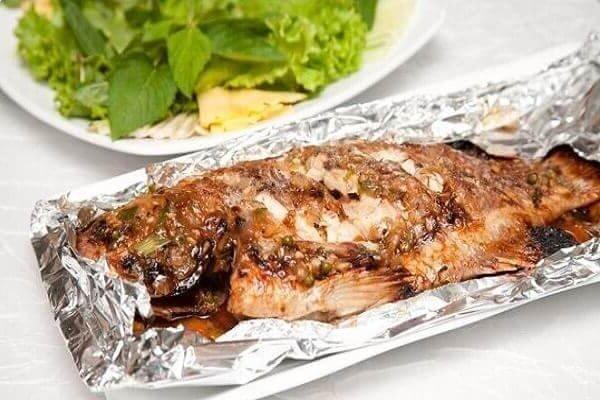 Món cá bò nướng giấy bạc