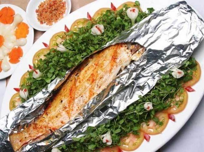 cáchlàm cá bò da nướng giấy bạc
